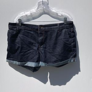 Joe's Jean Shorts Ariel Dark Wash Rolled Cuffed 32